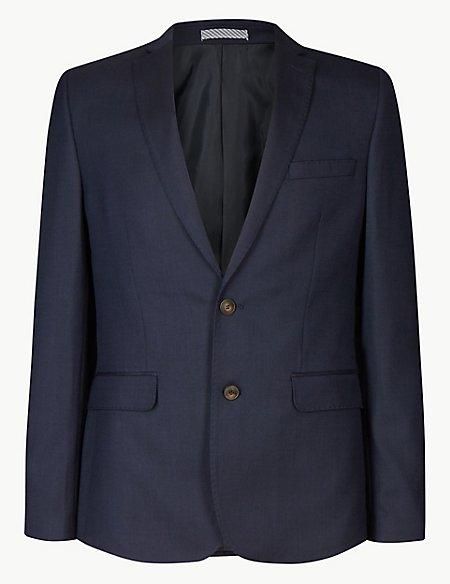 Indigo Textured Modern Slim Fit Suit