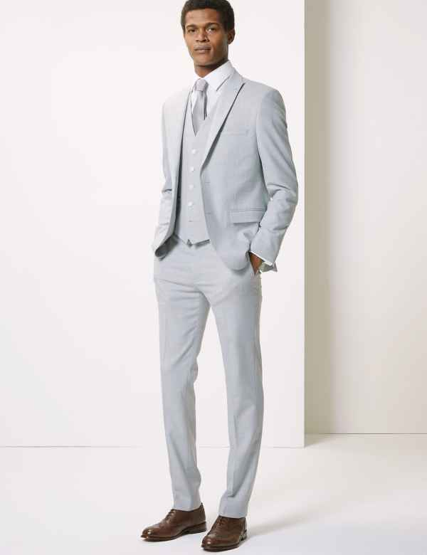 75cd1266ebc Grey Skinny Fit 3 Piece Suit