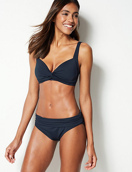 Non-Wired Plunge Swimsuit Set