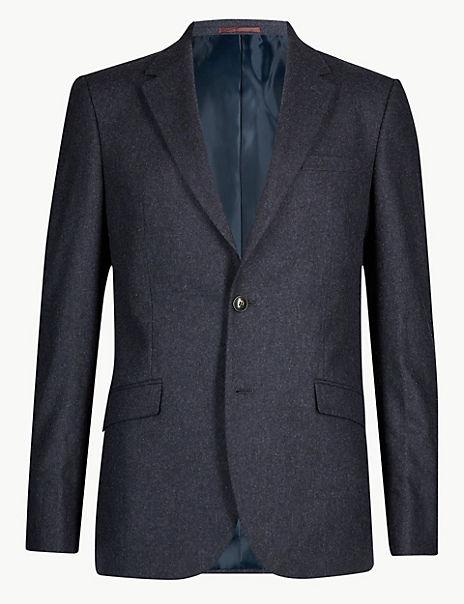 Indigo Textured Tailored Fit Suit