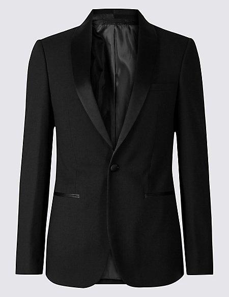 Big & Tall Black Textured Slim Fit Suit