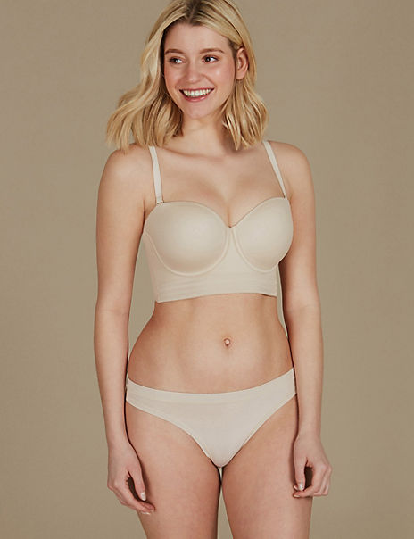 Padded Set with Strapless A-E