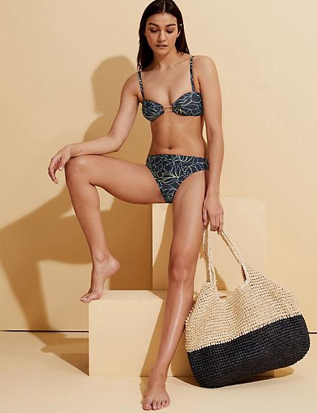 Floral Multiway Bandeau Bikini Set