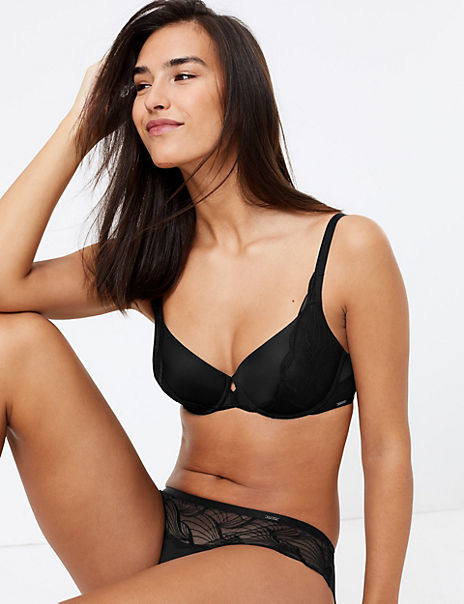 Embroidered Set with Full Cup Bra