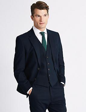 Linen Blend Regular Fit 3 Piece Suit