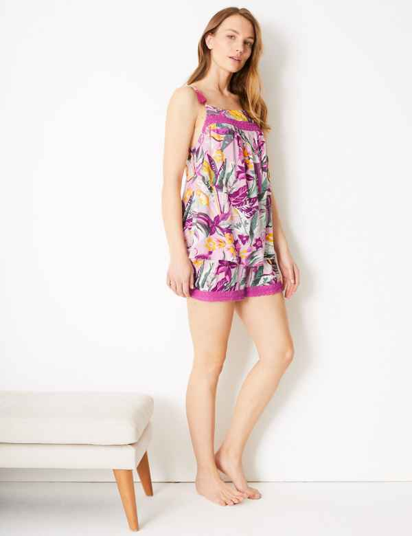 5654283cc2c Tropical Strappy Cami Pyjama Set