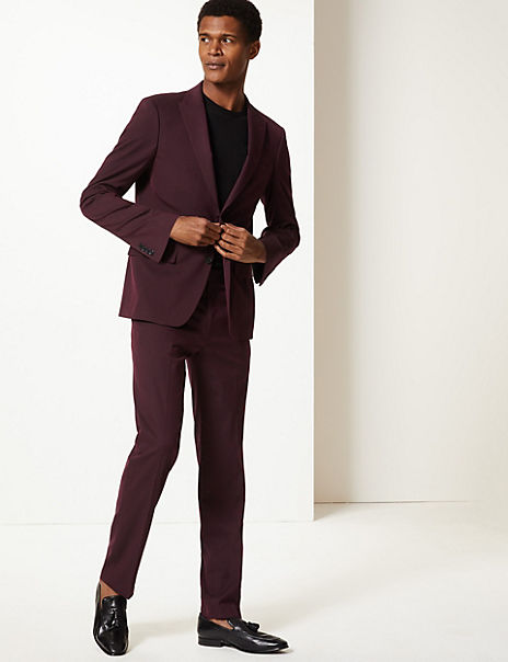 Burgundy Slim Fit Suit