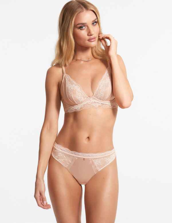 0aef32a5a1 Silk   Lace Set with Non-Padded Plunge ...