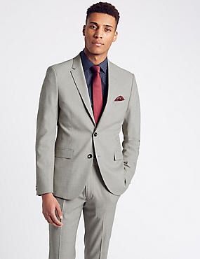 Textured Modern Slim Fit Suit