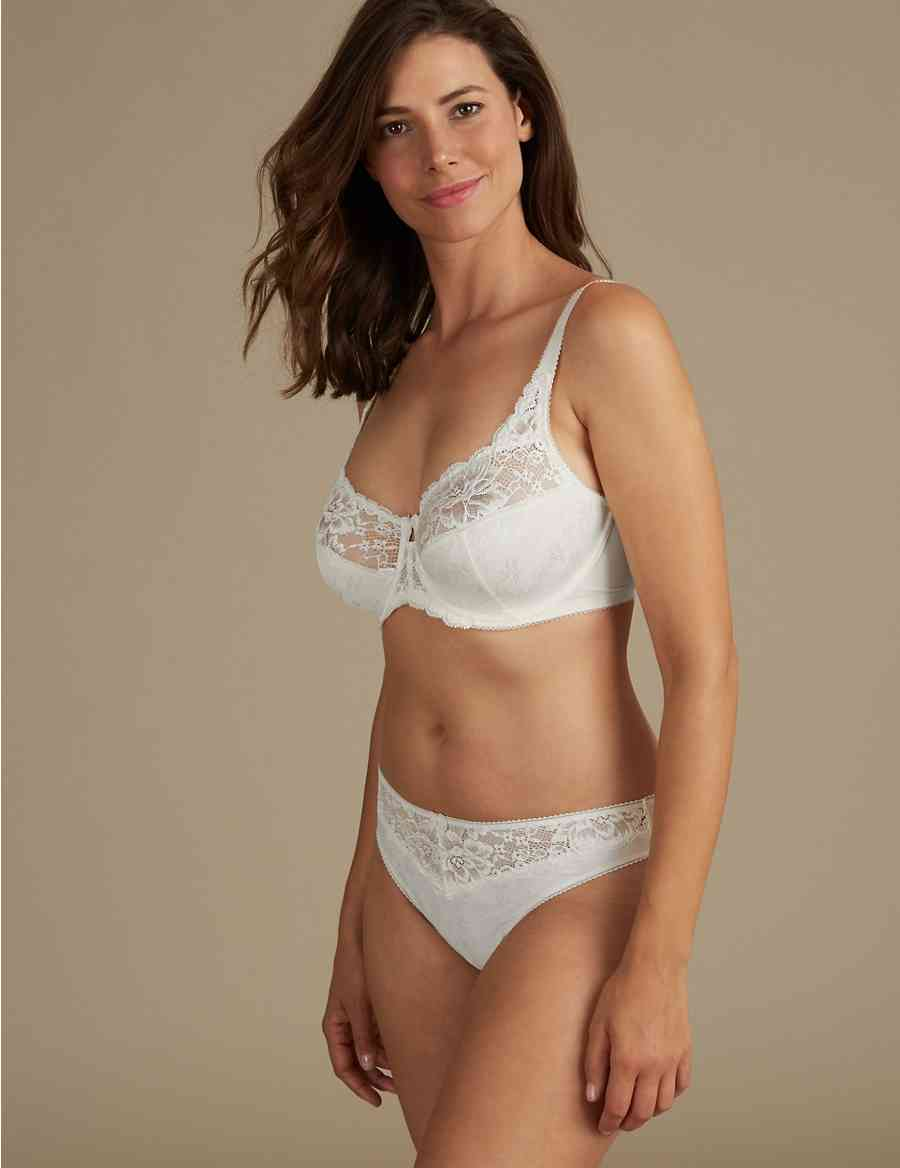 ce823de8faf94 Jacquard Lace Non-Padded Set with Full Cup DD-H