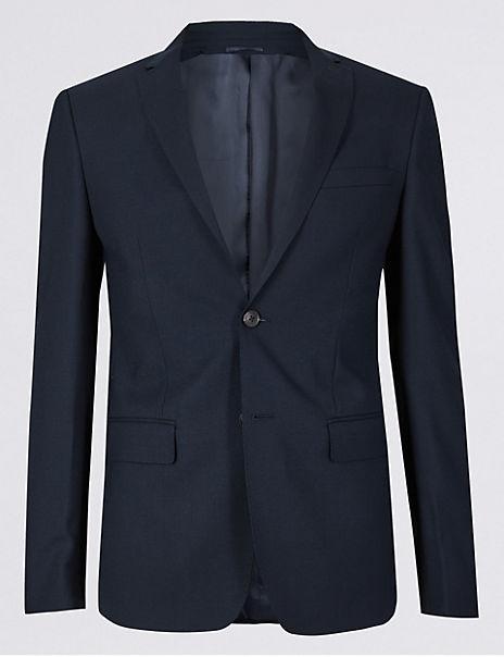 Big & Tall Navy Skinny Fit Wool Suit