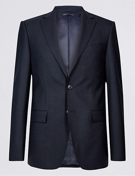 Big & Tall Navy Slim Fit Wool Suit