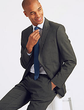 Charcoal Checked Slim Fit Suit