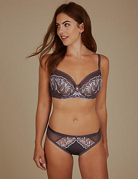 Embroidered Non-Padded Set with Balcony A-DD