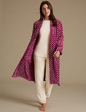 Long Sleeve Pyjama Set with Dressing Gown, , catlanding