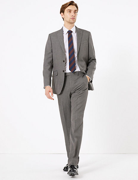 Regular Fit Checked Suit