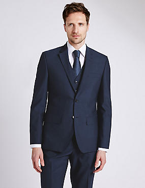 Big & Tall Indigo Tailored Fit 3 Piece Suit
