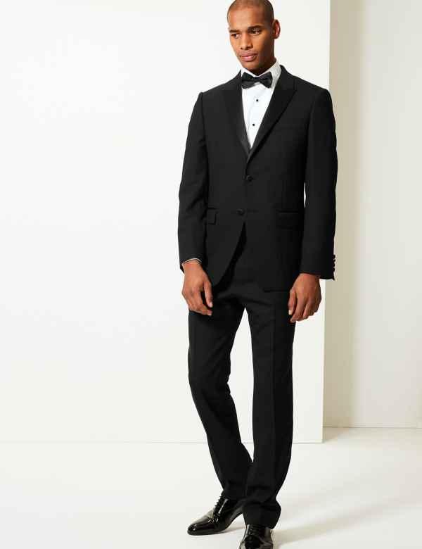 c10a29f9a Black Regular Fit Wool Suit