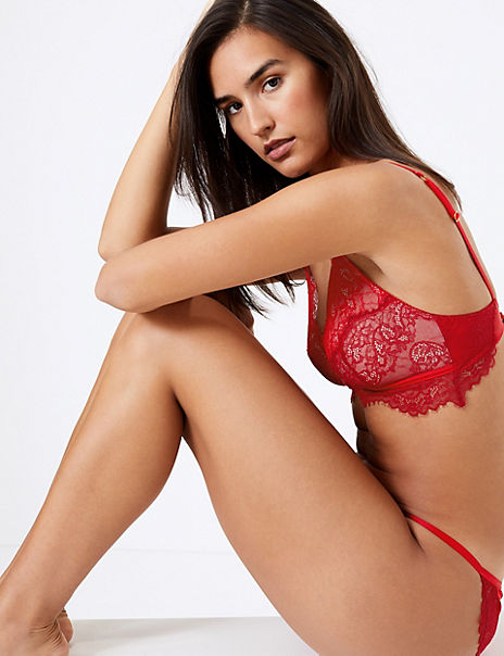 Layered Lace Set with Bralet