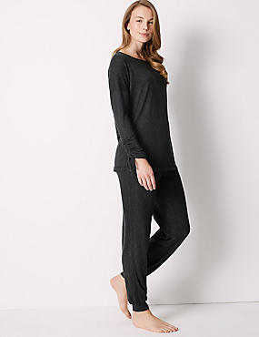 Textured Long Sleeve Pyjama Set