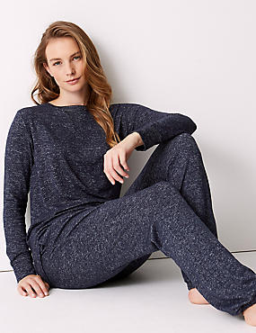 Cosy Knit Long Sleeve Pyjama Set
