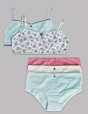 Embroidered Crop Top and Shorts Set