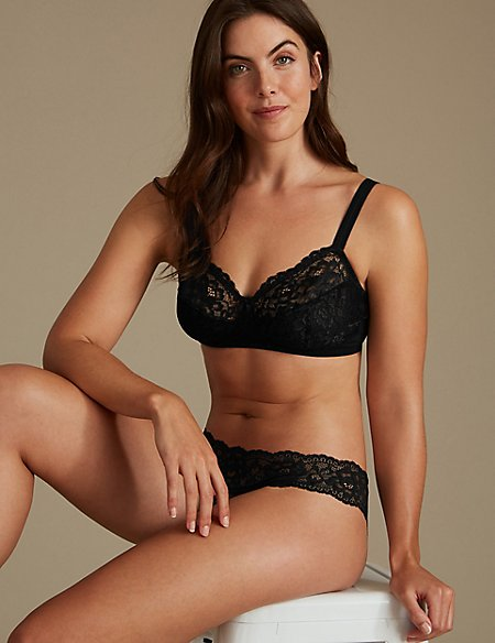 All Over Lace Set with Non- Padded Full Cup A-DD