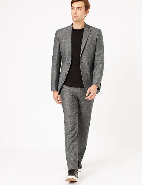Slim Fit Italian Wool Blend Suit