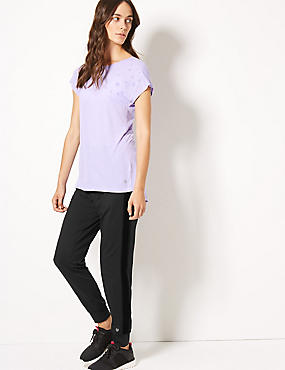 Quick Dry Short Sleeve Top & Jogger Outfit  , , catlanding