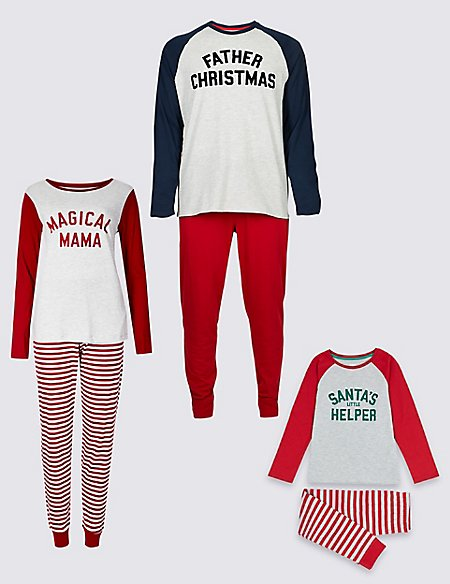 Santa Christmas Matching Family Pyjamas