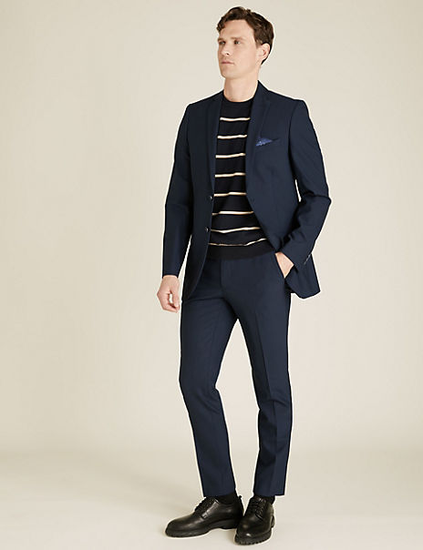The Ultimate Navy Tailored Fit Wool Blend Suit