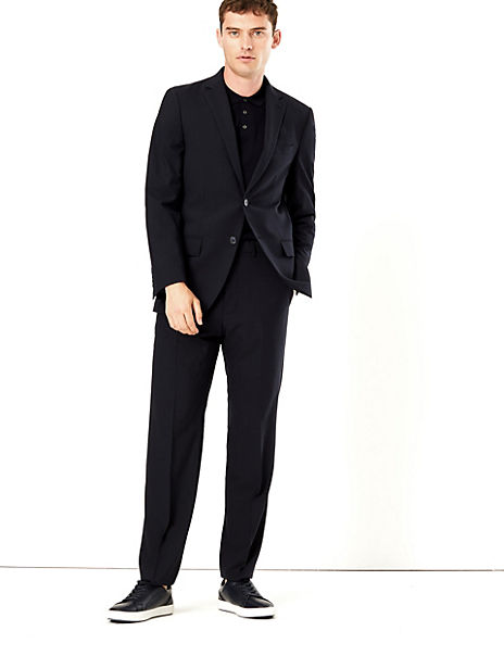 The Ultimate Navy Regular Fit Checked Suit