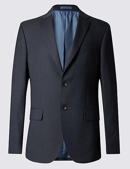 Big & Tall Navy Striped Regular Fit Suit