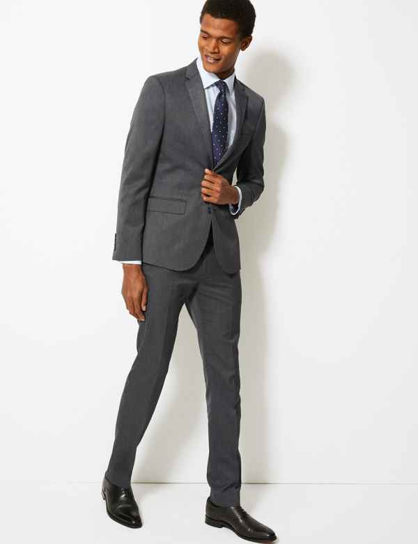 9ed5eb0e485 Grey Skinny Fit Suit