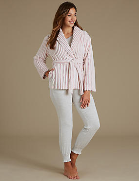 Long Sleeve Pyjama Set with Dressing gown