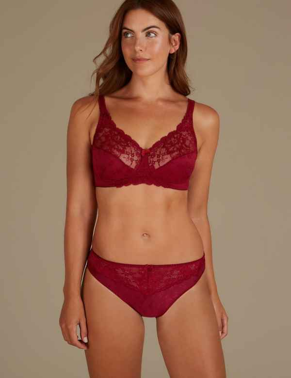 Jacquard Lace Set with Full Cup A-DD abd27d883