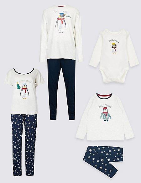 Penguin Christmas Matching Family Pyjamas