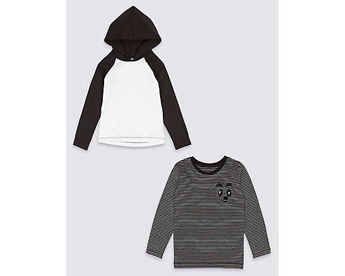 Pure Cotton Hooded Top & T-Shirt Collection