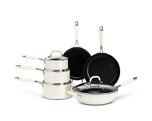 Cream Non-Stick Aluminium Pan Range