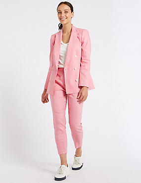 Linen Rich Blazer & Slim Leg Trousers