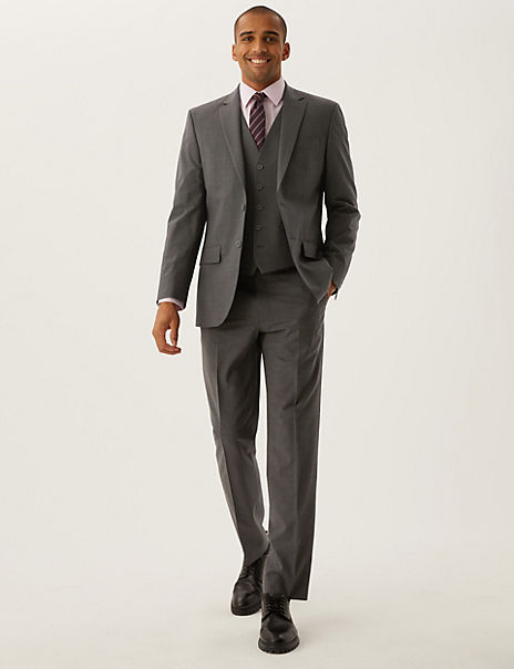 The Ultimate Charcoal Regular Fit 3 piece Suit