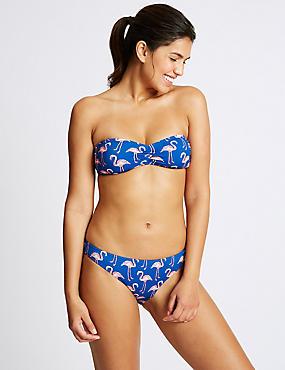 Flamingo Print Bandeau Bikini Set