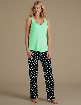 Built-up Shoulder Pyjama Set, , catlanding