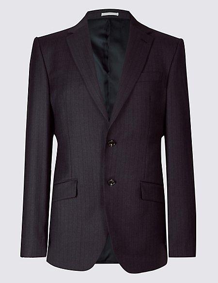 Striped Regular Fit Wool Suit