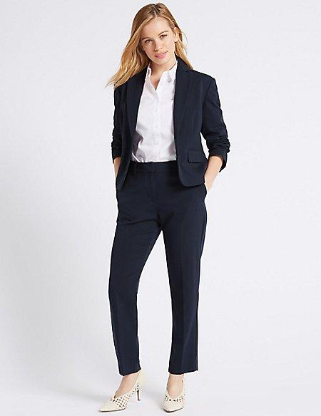 PETITE Blazer & Slim Leg Trousers Suit Set