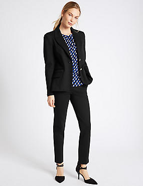 Blazer & Slim Leg Trousers Suit Set