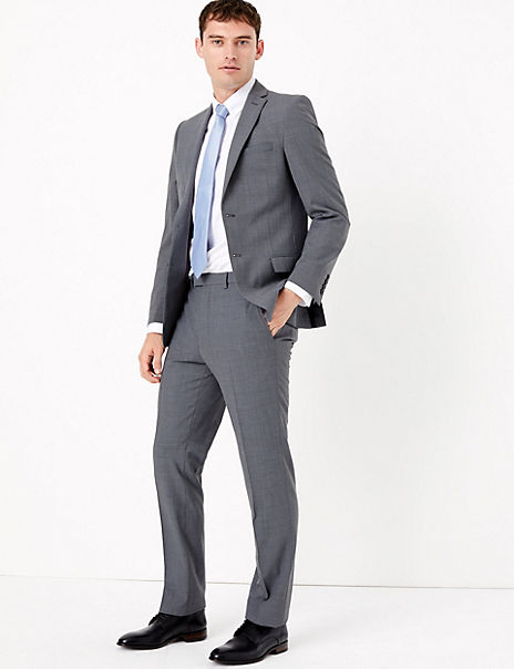The Ultimate Big & Tall Grey Slim Fit Suit