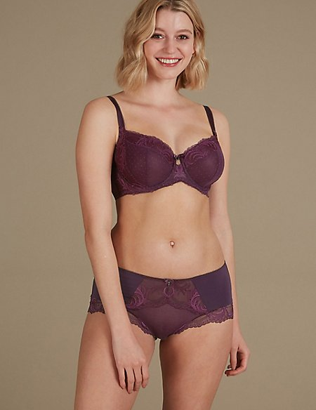 Lace Non-Padded Set with Full Cup