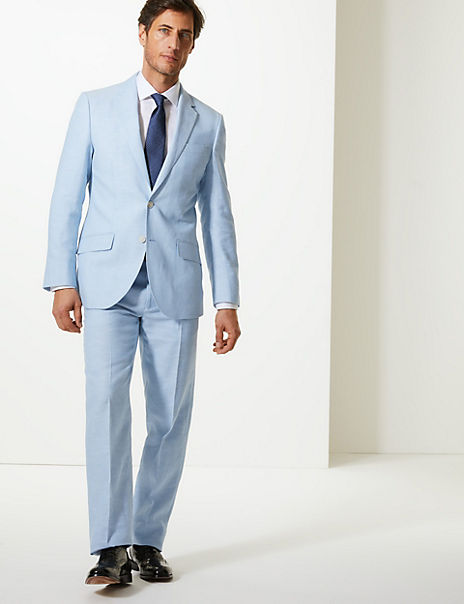 Regular Fit Linen Miracle Suit
