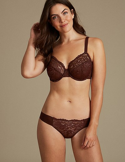 73e3c0d33657b Floral Lace Set with Non-Padded Full Cup B-DD